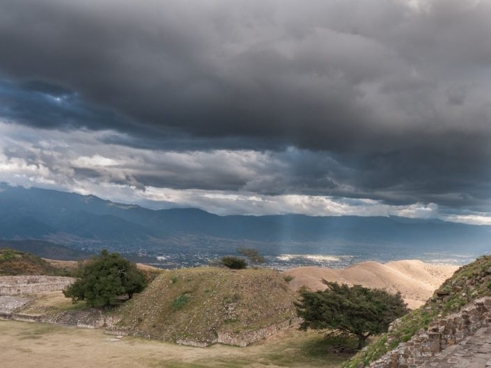 Monte Alban archeological site, Oaxaca