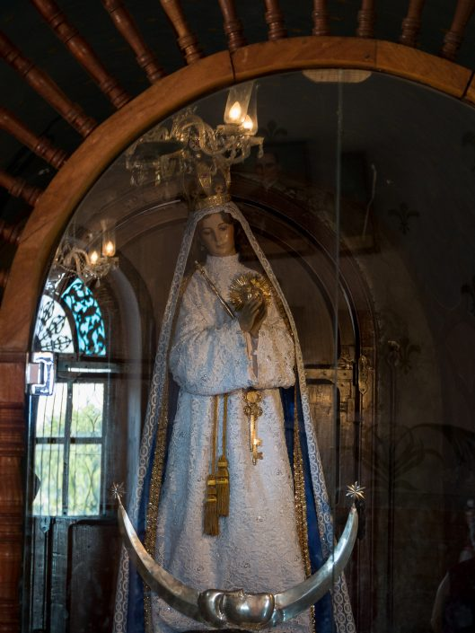 The Virgen, inside San Antonio De Padua, Izamal