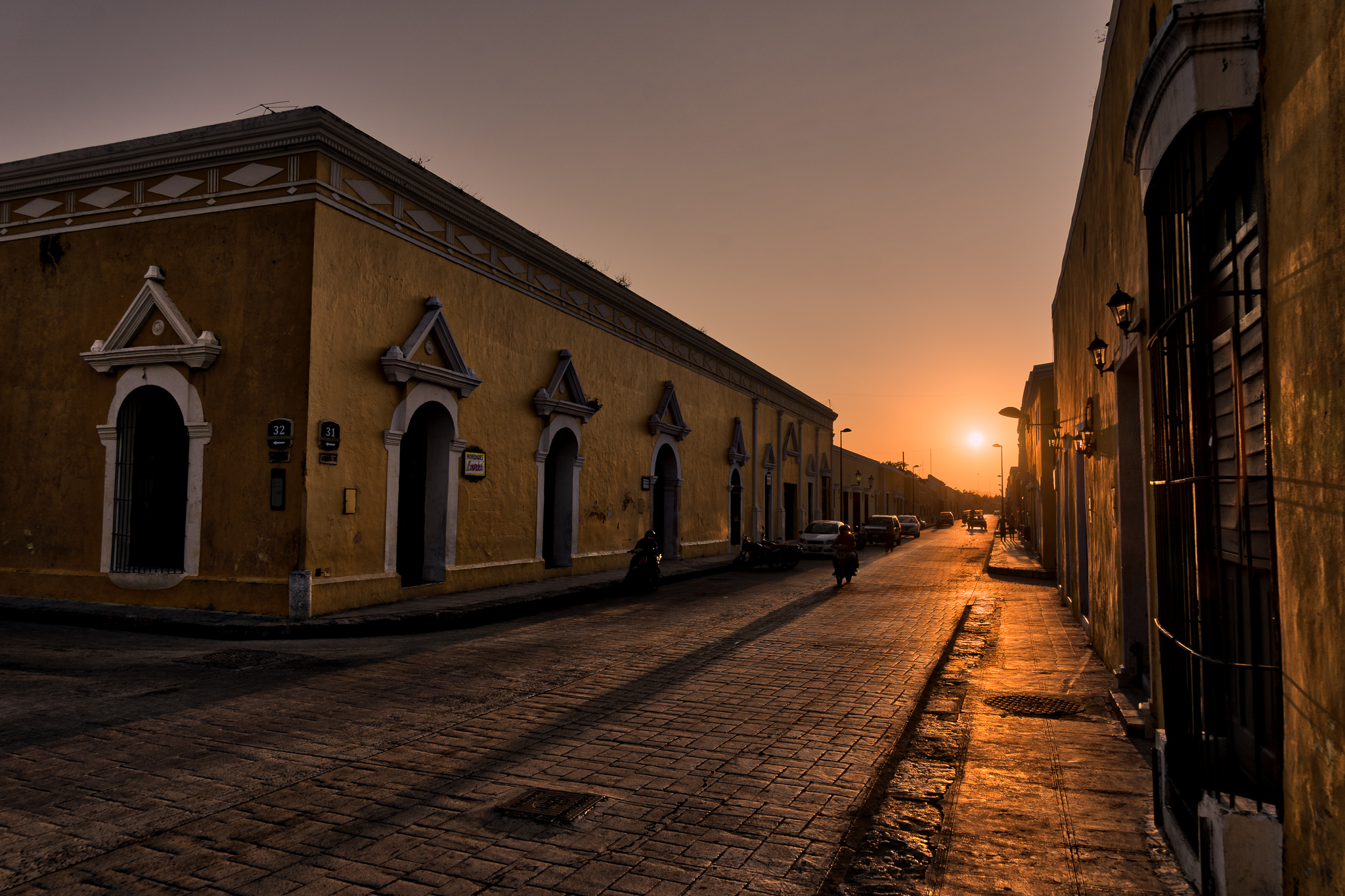 Izamal at sunset