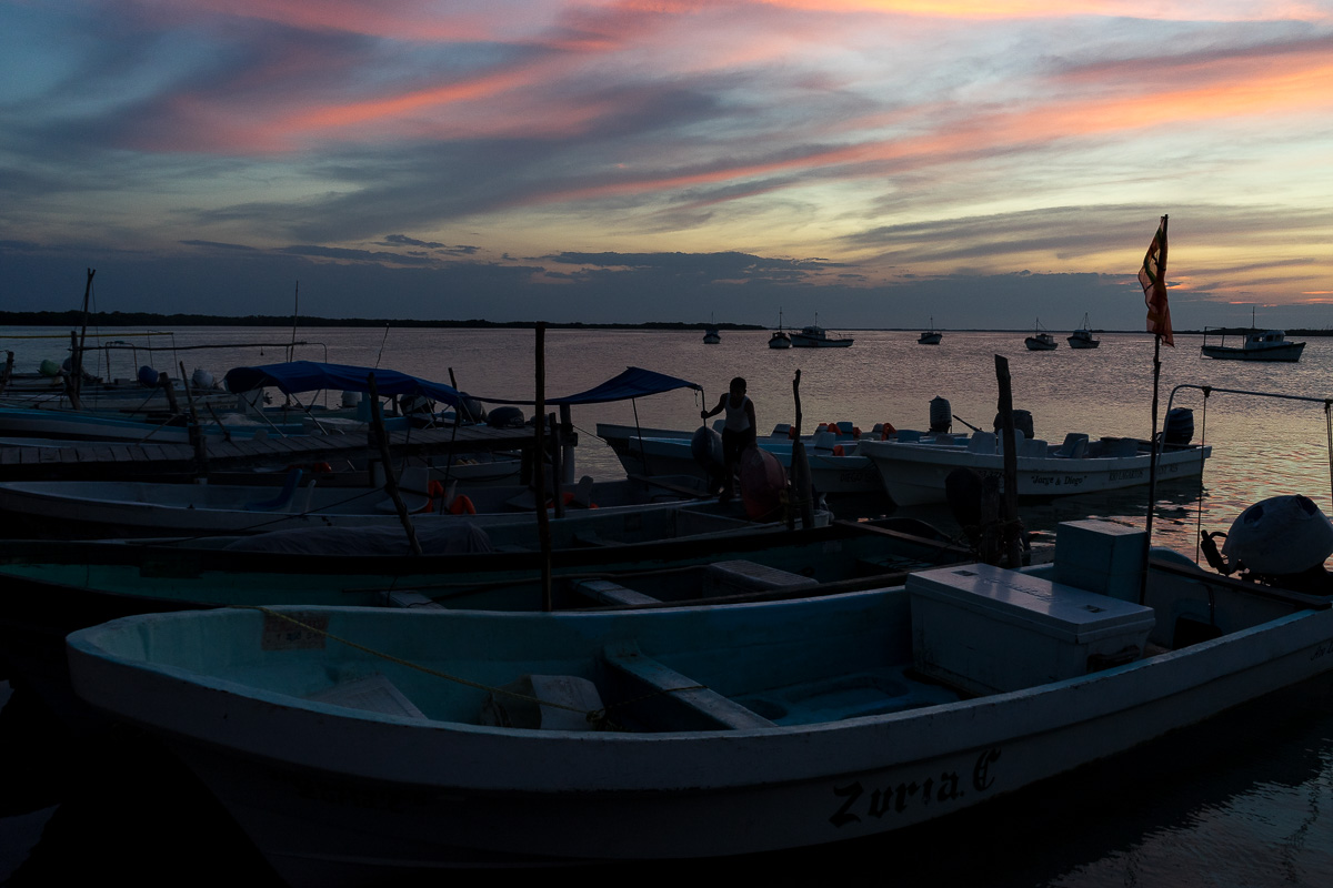 Sunset in Rio Lagartos