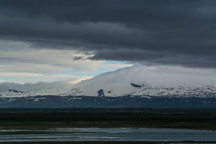 Iceland, snowcapped mountain