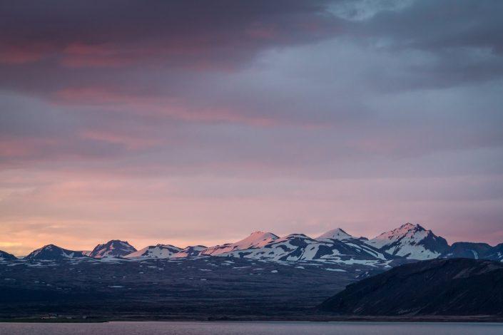 Sunset (Midnight sun) Thingvellir