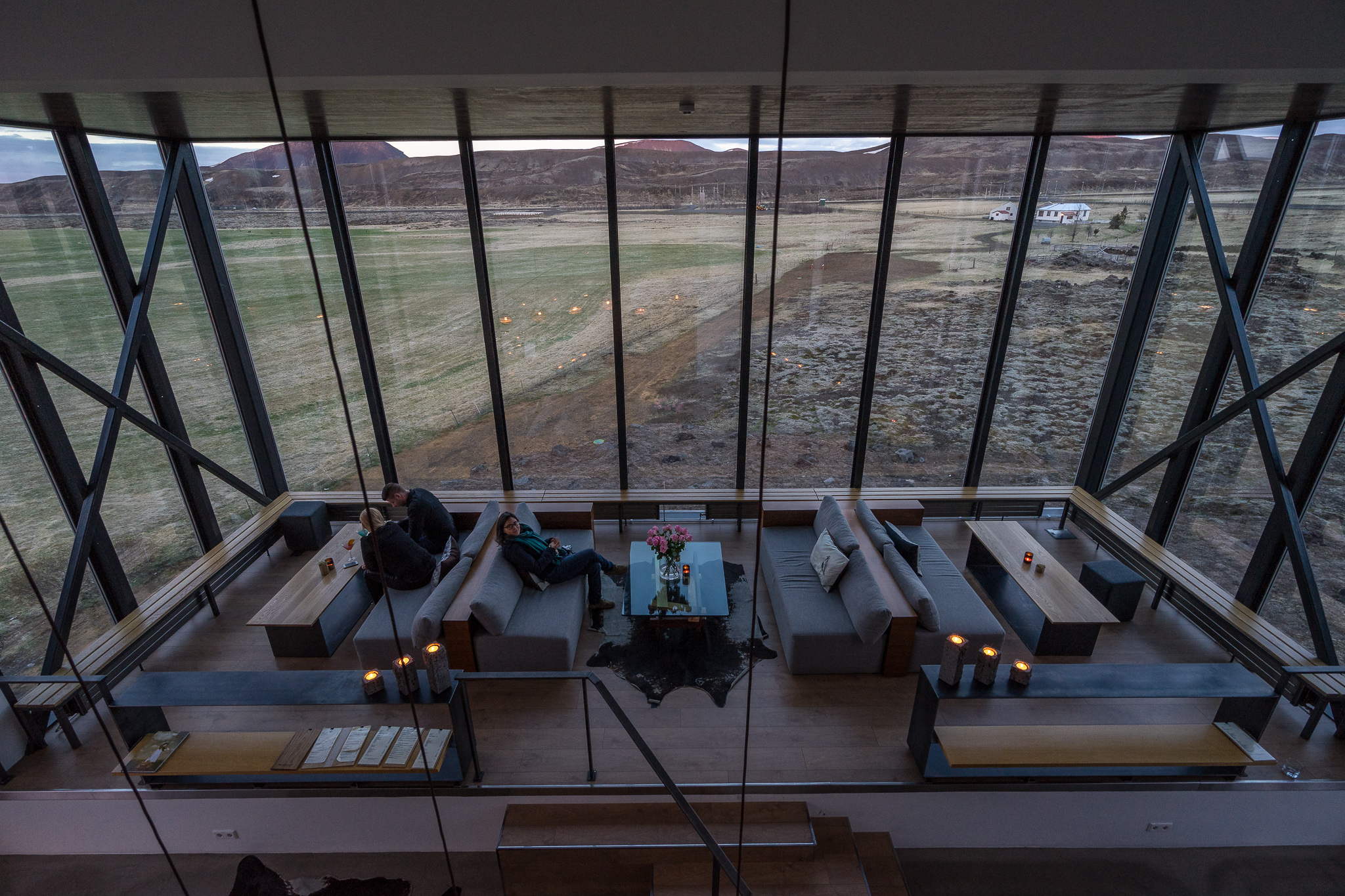 The bar, ION Adventure Hotel. Iceland