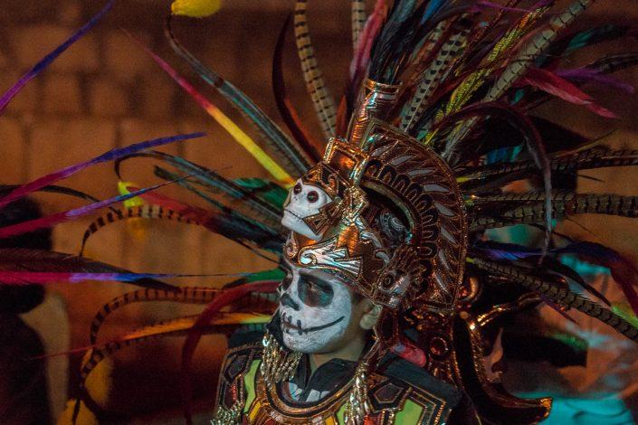 Dia de Muertos, night performance, Oaxaca